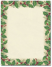 Product Image For Dancing Holly Letterhead